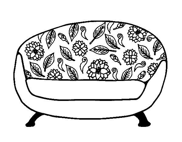 Coloriage et dessins gratuits Vintage Fauteuil couleur à imprimer