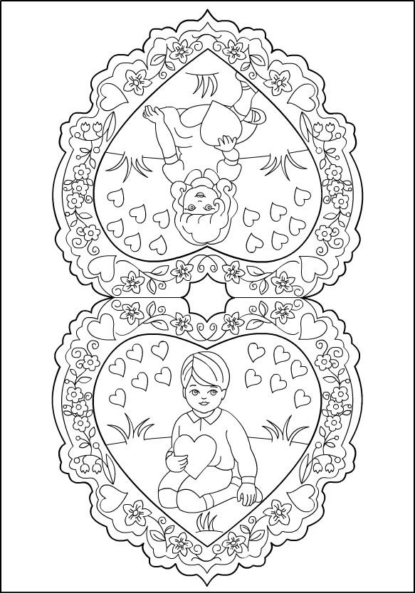 Coloriage et dessins gratuits Vintage Innocence d'enfance à imprimer
