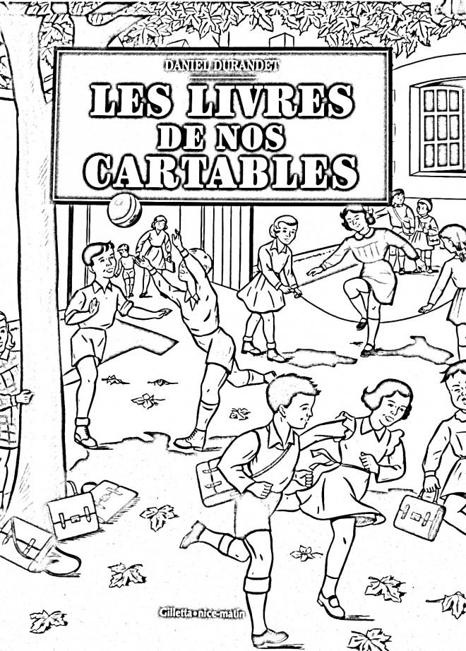 Coloriage et dessins gratuits Vintage Les Livres de Nos Cartables à imprimer
