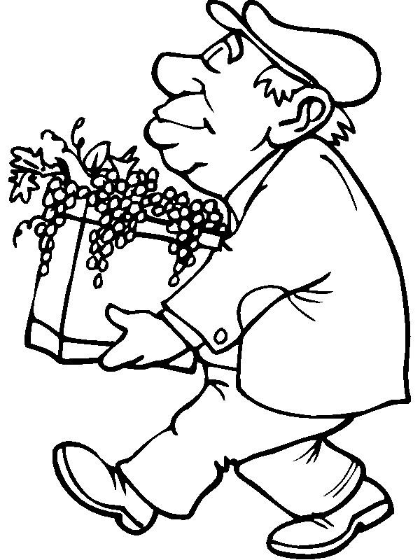 Coloriage et dessins gratuits Vintage paysan à imprimer