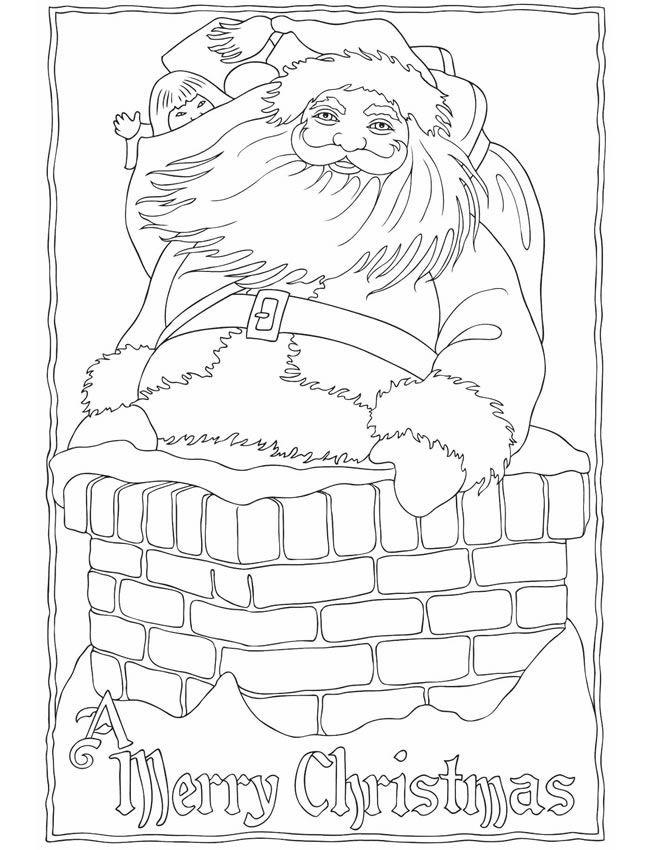 Coloriage Vintage Père Noel Maternelle Dessin Gratuit à Imprimer