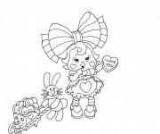 Coloriage et dessins gratuit Vintage Petite soeur mignonne à imprimer
