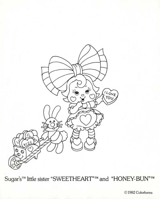 Coloriage et dessins gratuits Vintage Petite soeur mignonne à imprimer