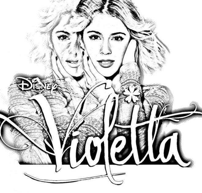 Coloriage et dessins gratuits Affiche de Série Violetta à imprimer