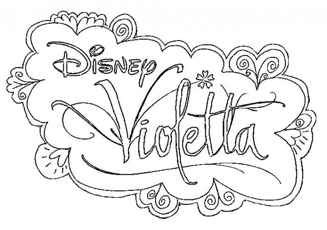 Coloriage et dessins gratuits Affiche Violetta Disney à imprimer