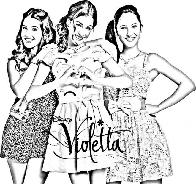 Coloriage et dessins gratuits Les Heroines de  Violetta à imprimer