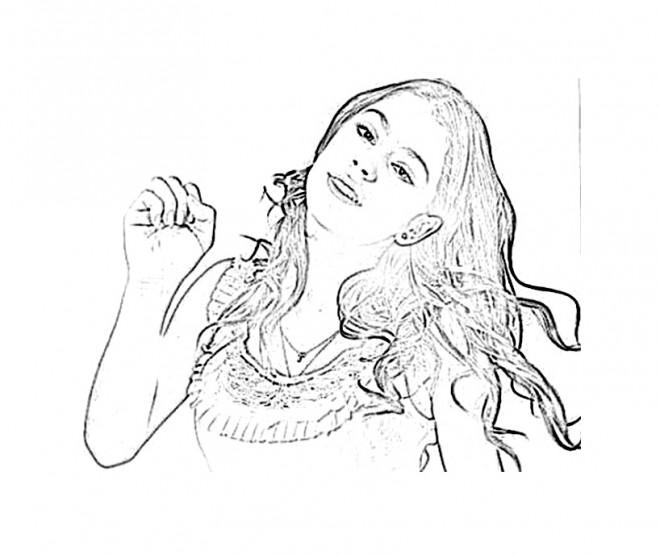 Coloriage et dessins gratuits Personnage Violetta mignonne à imprimer