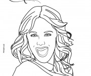 Coloriage et dessins gratuit Portrait Violetta à imprimer