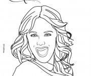 Coloriage Portrait Violetta