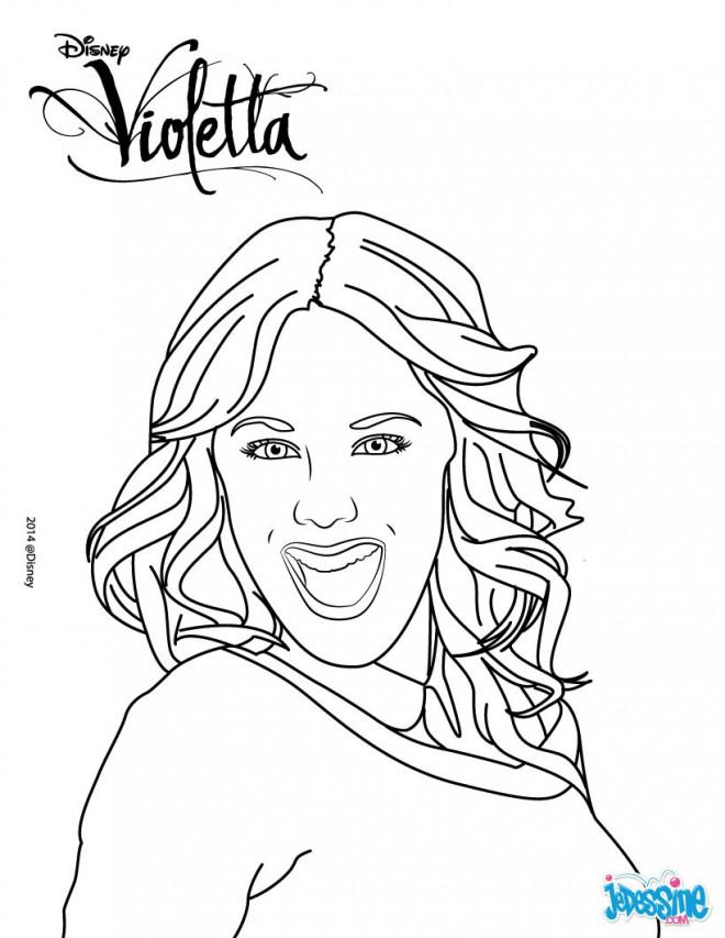 Coloriage Portrait Violetta Dessin Gratuit à Imprimer