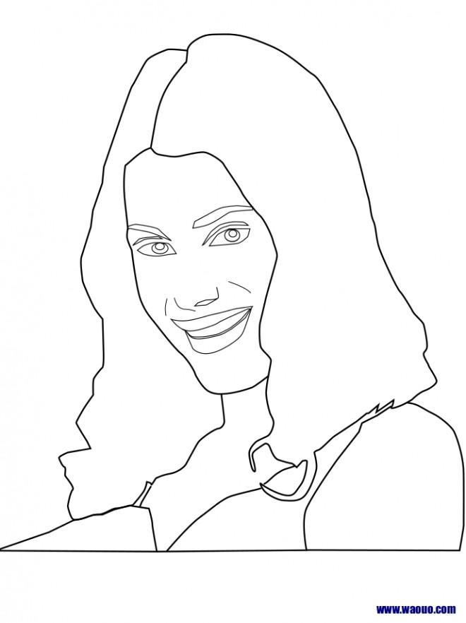 Coloriage et dessins gratuits Violetta à compléter à imprimer