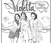 Coloriage Violetta Affiche