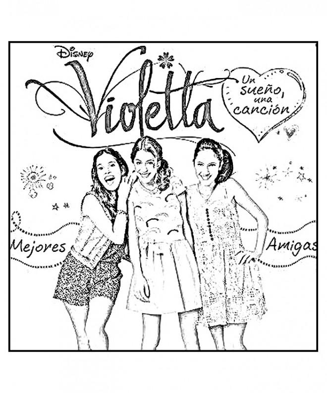 Coloriage violetta affiche dessin gratuit imprimer - Image de violetta a telecharger ...