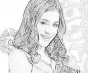 Coloriage Violetta au crayon