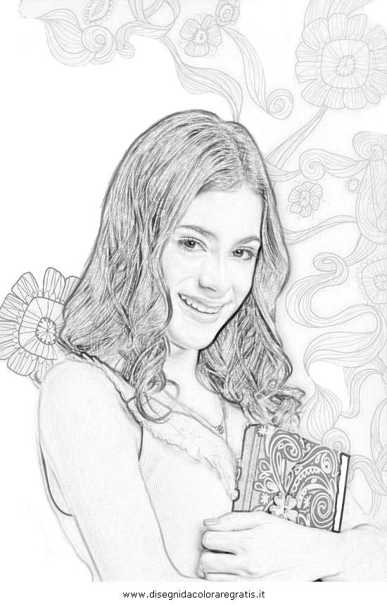 Coloriage et dessins gratuits Violetta au crayon à imprimer