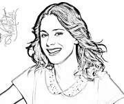 Coloriage et dessins gratuit Violetta avec Voix magnifique à imprimer