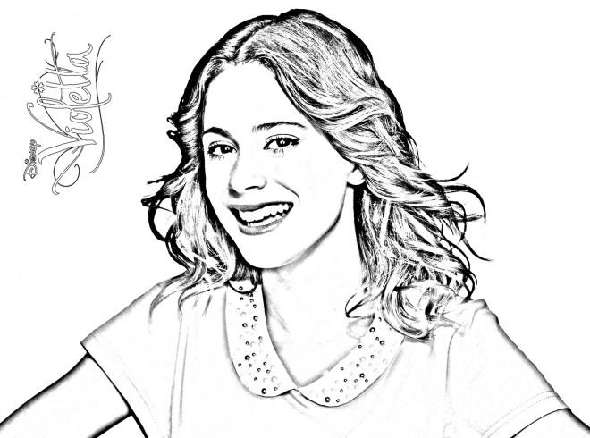 Coloriage Violetta Avec Voix Magnifique Dessin Gratuit à Imprimer