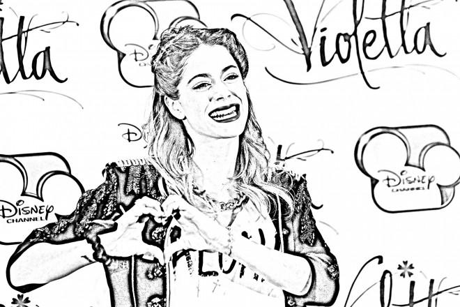 Coloriage et dessins gratuits Violetta Célébrités couleur à imprimer