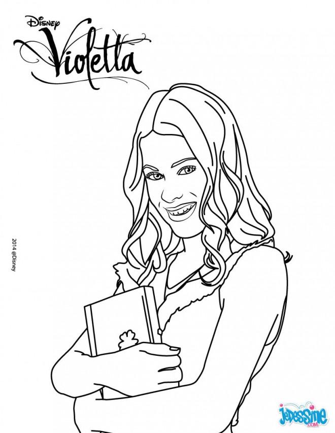 Coloriage et dessins gratuits Violetta Disney à imprimer