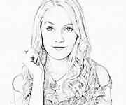 Coloriage et dessins gratuit Violetta en ligne à imprimer