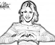 Coloriage et dessins gratuit Violetta et Amour à imprimer