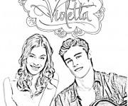 Coloriage Violetta et Leon