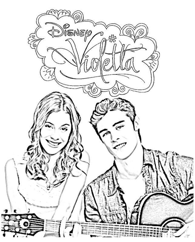 Coloriage et dessins gratuits Violetta et Leon à imprimer