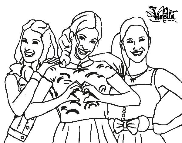 Coloriage et dessins gratuits Violetta et ses amies à imprimer