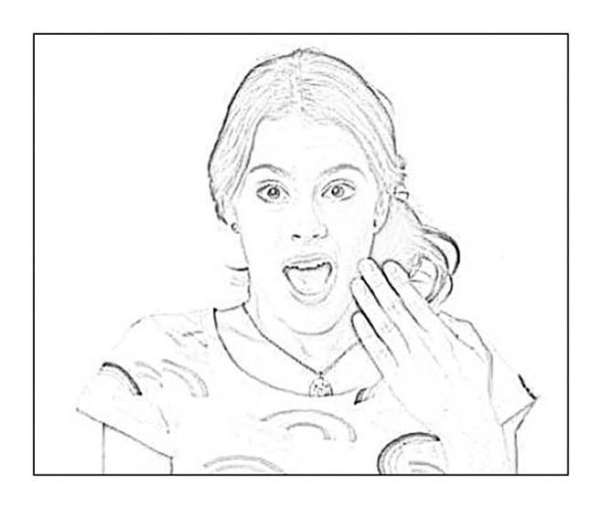 Coloriage et dessins gratuits Violetta facile à colorier à imprimer
