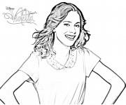Coloriage et dessins gratuit Violetta Jeune Fille à imprimer