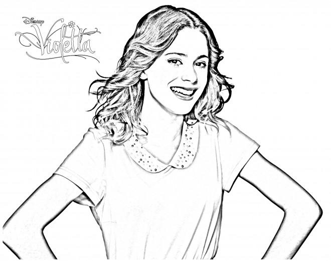 Coloriage et dessins gratuits Violetta Jeune Fille à imprimer