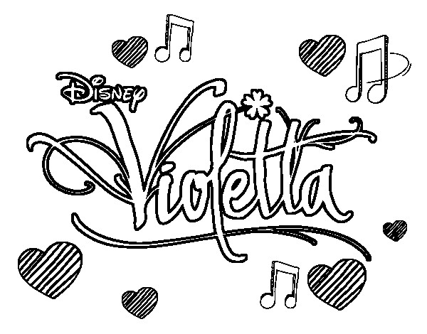 Coloriage et dessins gratuits Violetta Logo à imprimer