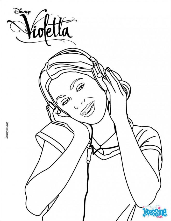 Coloriage et dessins gratuits Violetta mignonne à imprimer
