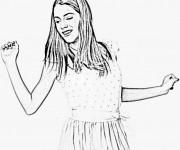 Coloriage et dessins gratuit Violetta pour adolescents à imprimer
