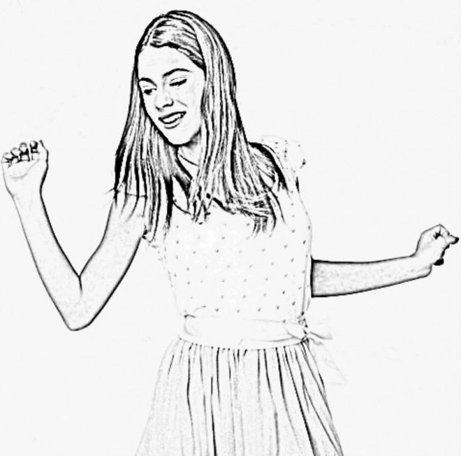 Coloriage et dessins gratuits Violetta pour adolescents à imprimer