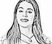 Coloriage et dessins gratuit Violetta pour Fille à imprimer
