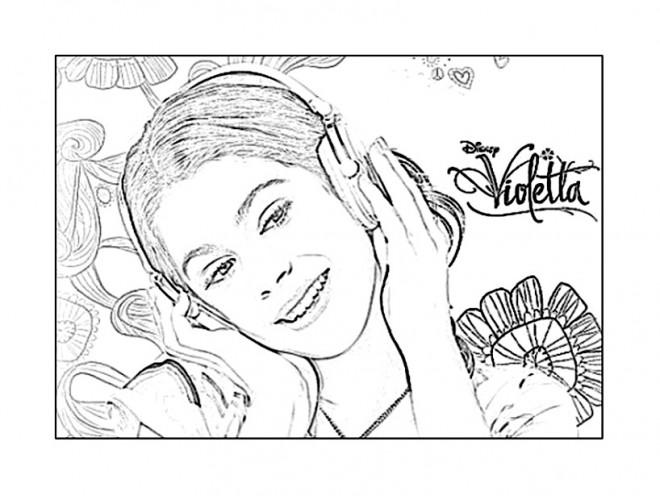 Coloriage Violetta sur ordinateur dessin gratuit à imprimer