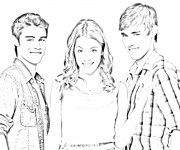 Coloriage et dessins gratuit Violetta Tomas et Leon à imprimer