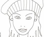 Coloriage Portrait Femme