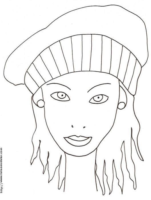 Coloriage Portrait Femme Dessin Gratuit A Imprimer