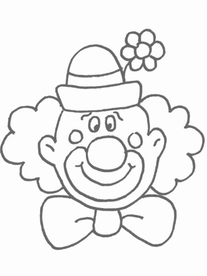 Coloriage et dessins gratuits Un clown rigolo à imprimer