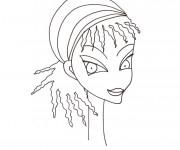 Coloriage dessin  Visage 9