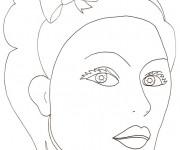 Coloriage et dessins gratuit Visage à maquiller à imprimer