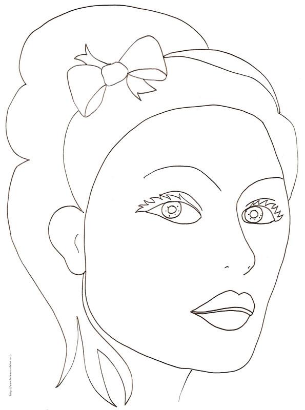 coloriage visage maquiller dessin gratuit imprimer. Black Bedroom Furniture Sets. Home Design Ideas