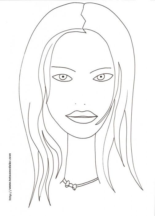 Coloriage et dessins gratuits Visage adolescente facile à imprimer