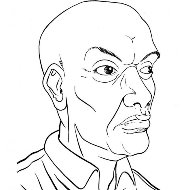 Coloriage visage d 39 un vieil homme dessin gratuit imprimer - Coloriage visage manga ...