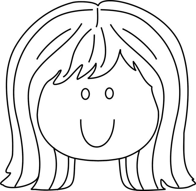 Coloriage Fille Maternelle.Coloriage Visage De Fille Maternelle Dessin Gratuit A Imprimer