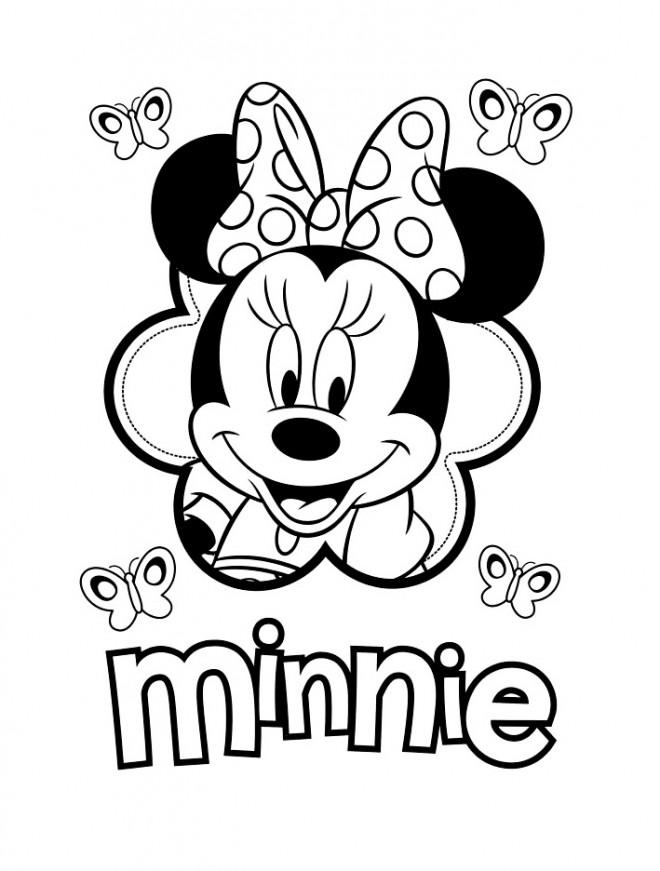 Coloriage Visage De Minnie Mouse Dessin Gratuit à Imprimer