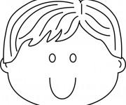 Coloriage et dessins gratuit Visage Enfant mignon à imprimer
