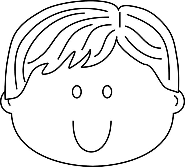 Coloriage En Ligne Visage.Coloriage Visage Enfant Mignon Dessin Gratuit A Imprimer